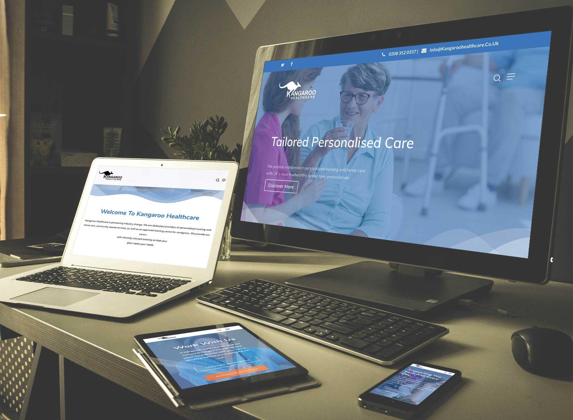 Kangaroo Healthcare Web Design & Development